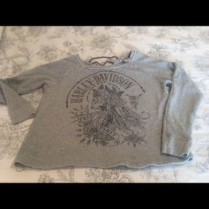 Harley Davidson off shoulder sweatshirt